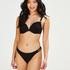 Formstøbt push-up-bikinitop med bøjle Crochet Størrelse A - E, sort