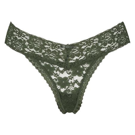 G-streng Floral lace, grøn