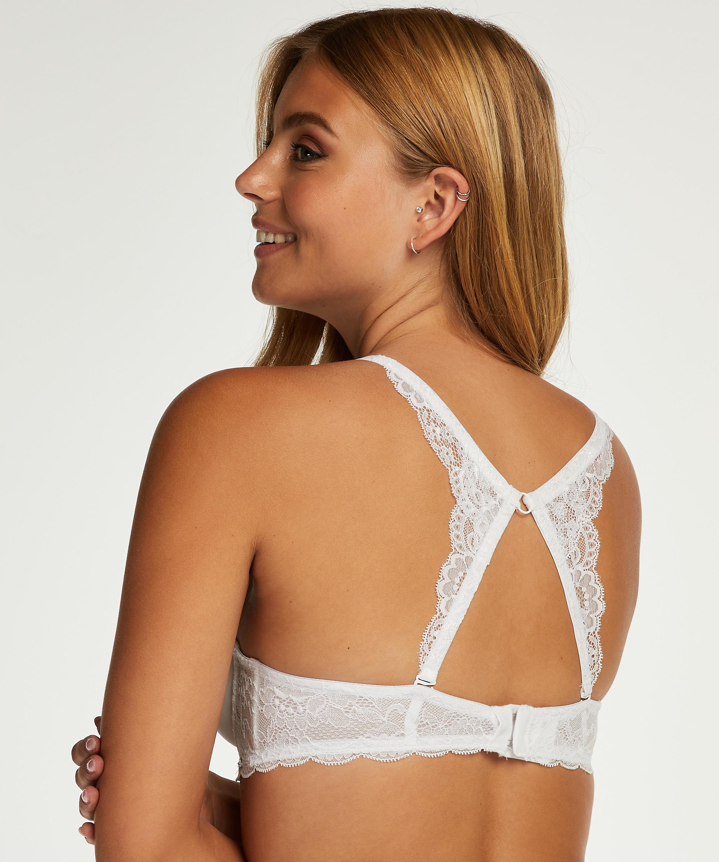 Lace back-detalje, hvid, main
