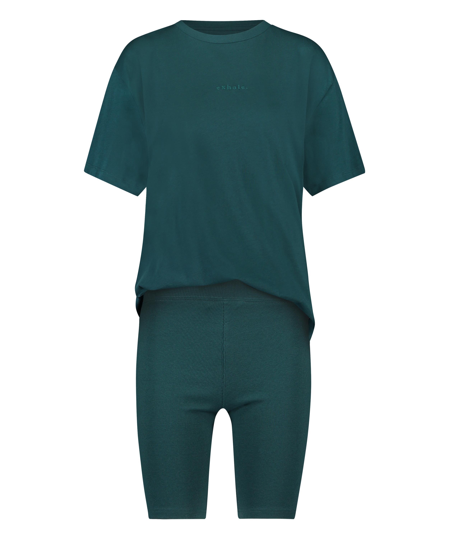 Kort pyjamassæt Biker, blå, main