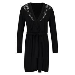 Modal Lace badekåbe, sort