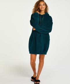 Snuggle fleece kjole, blå