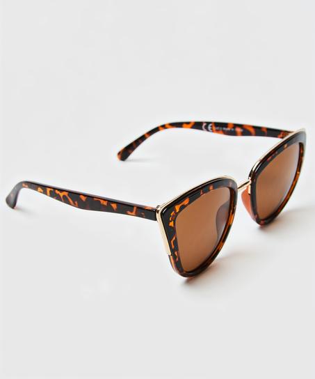 Cat Eye solbriller, Brown