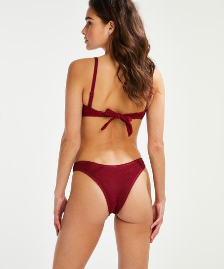 Formstøbt bandeau-bikinitop Indio Hills, rød