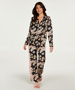 Pyjamastop Satin Emily, sort