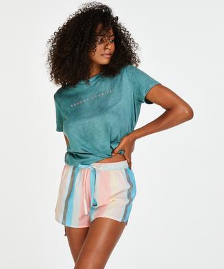 Pyjamasshorts chambray stripe, pink