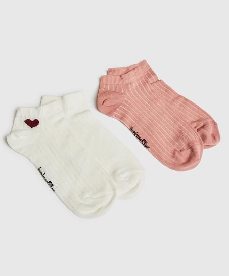 2 Par Sokker, hvid