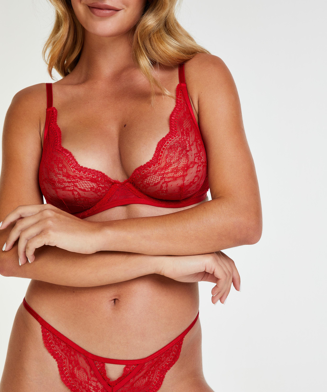 Ikke-polstret tråd-bh Isabelle, rød, main
