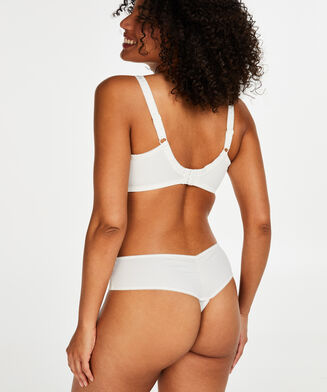 Diva string shorts, hvid