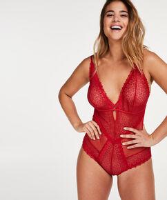 Geo Lace body, rød
