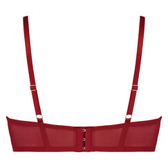 Formstøbt longline-bøjle-bh Mara, rød