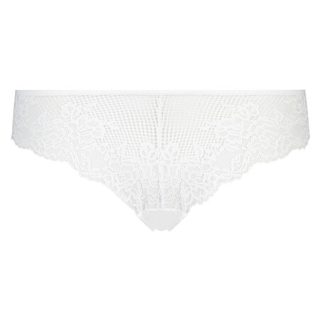 Invisible Lace Front g-streng, hvid