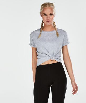 HKMX sportsshirt med korte ærmer, Grå