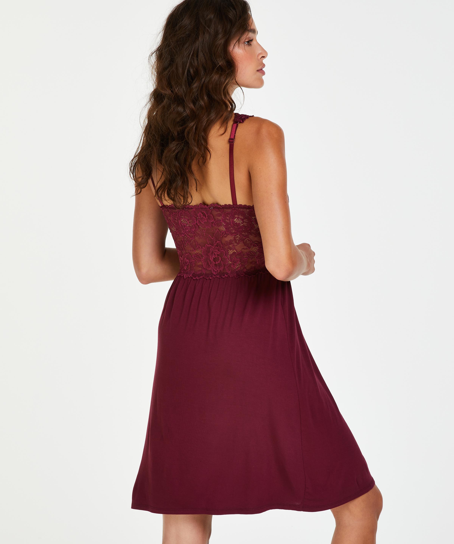 Modal Lace natkjole, rød, main