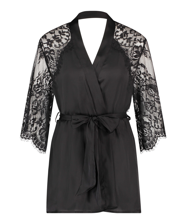 Jennifer kimono, sort, main