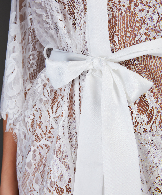 Lace Isabelle kimono, hvid, main