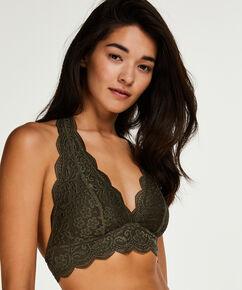 Halter Lace bralette, grøn