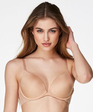 Angie formstøbt pushup-bøjle-bh, tan