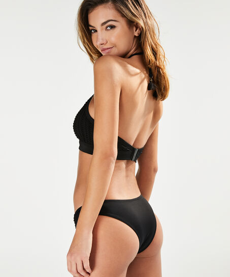 Borneo Mesh bikini-croptop med bøjler, sort
