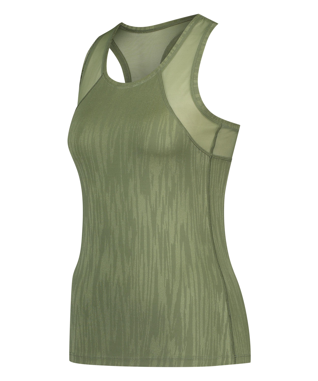 HKMX Sport slim fit tank top, grøn, main