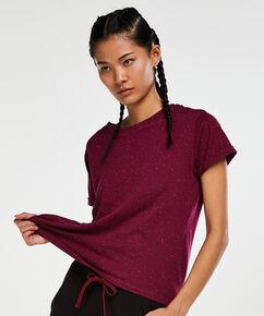 HKMX sportsshirt med korte ærmer, lilla