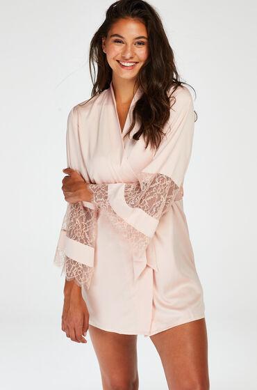 Hunkemöller Kimono satin lace pink