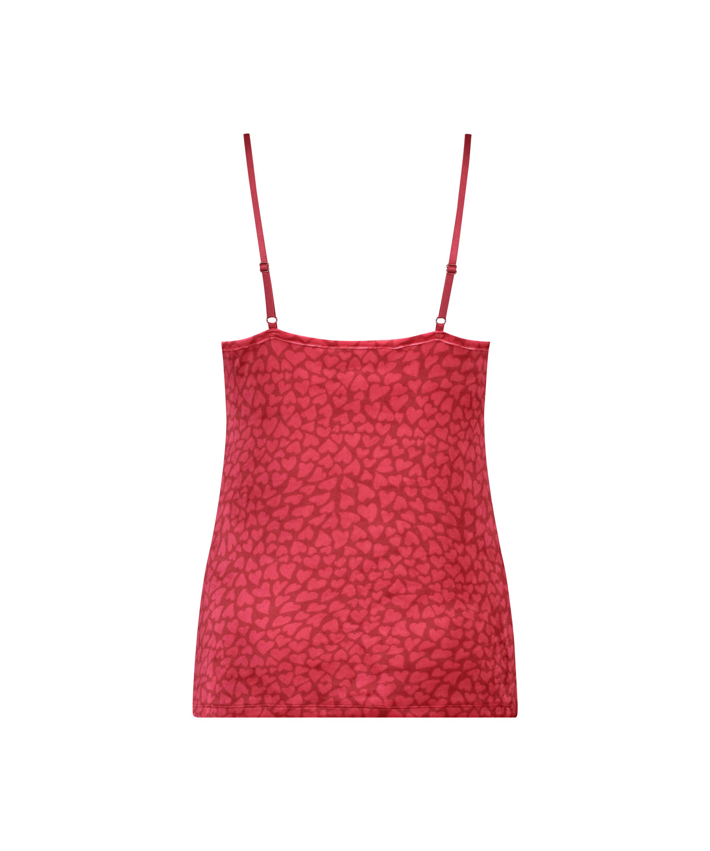 Cami Velour Lace, rød, main