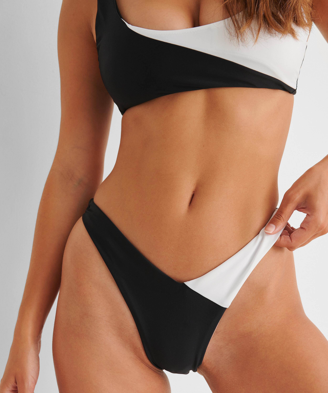 Højt udskåret rio-bikinitrusse 2Tone HKM x NA-KD, hvid, main