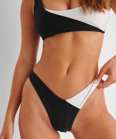 Højt udskåret rio-bikinitrusse 2Tone HKM x NA-KD, hvid
