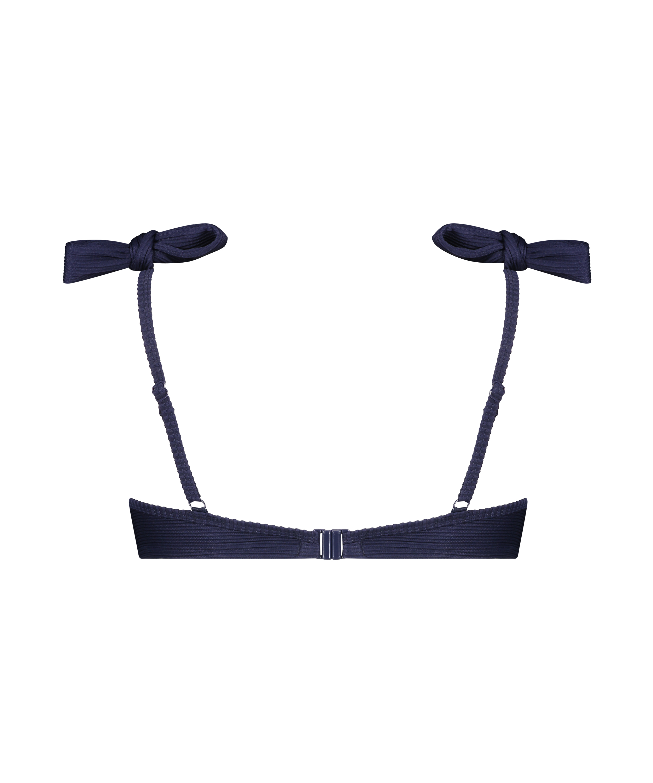 Harper formstøbt bikinitop med bøjle, blå, main