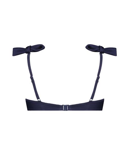 Harper formstøbt bikinitop med bøjle, blå