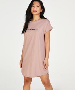 Natskjorte rund hals, pink
