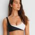 Bikini-croptop 2Tone HKM x NA-KD, hvid