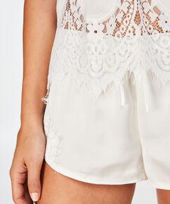Bridal pyjamassæt, hvid