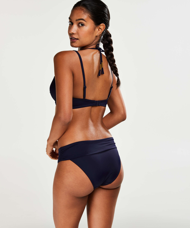Sunset Dream Fold Over bikinitrusse, blå, main