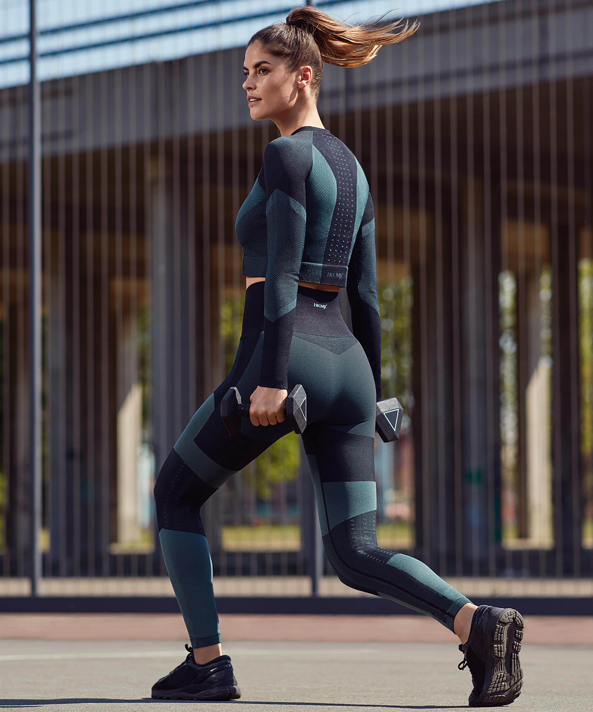HKMX The Motion-leggings med høj talje , grøn, main