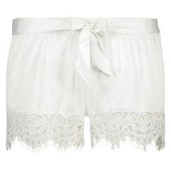 Bridal Satin Lace pyjamasshorts, hvid