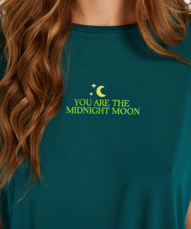 Top korte ærmer Jersey Moon, Grå, main