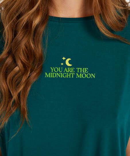 Top korte ærmer Jersey Moon, Grå