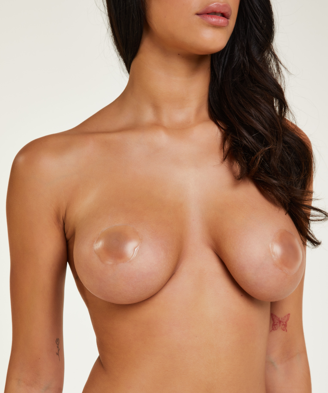 Brystvorteskjulere af silikone, hvid, main