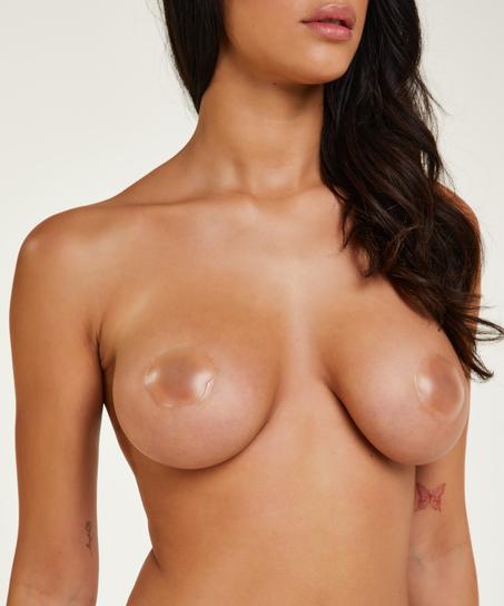 Brystvorteskjulere af silikone, hvid