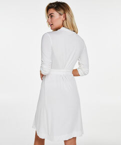 Modal Lace badekåbe, hvid