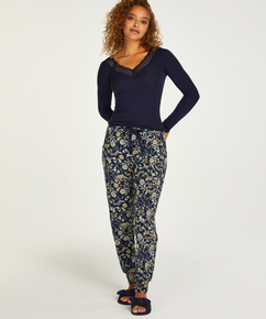 Petite Jersey pyjamasbukser, blå
