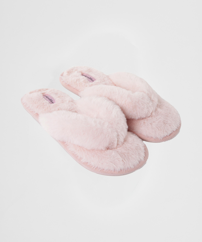 Fake Fur hjemmesko, pink, main
