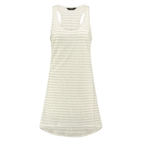 Nightshirt Stripe sleeveless, Grå