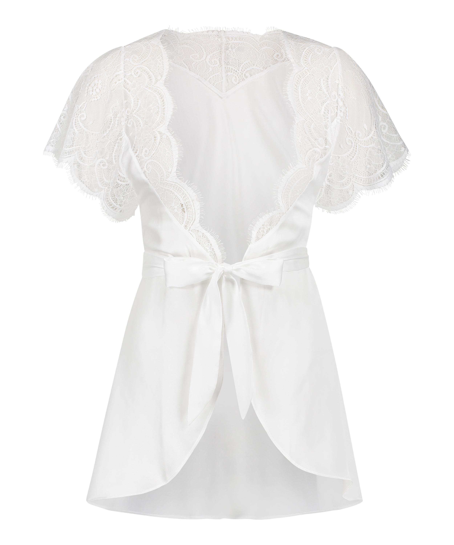 Cap Sleeve kimono, hvid, main