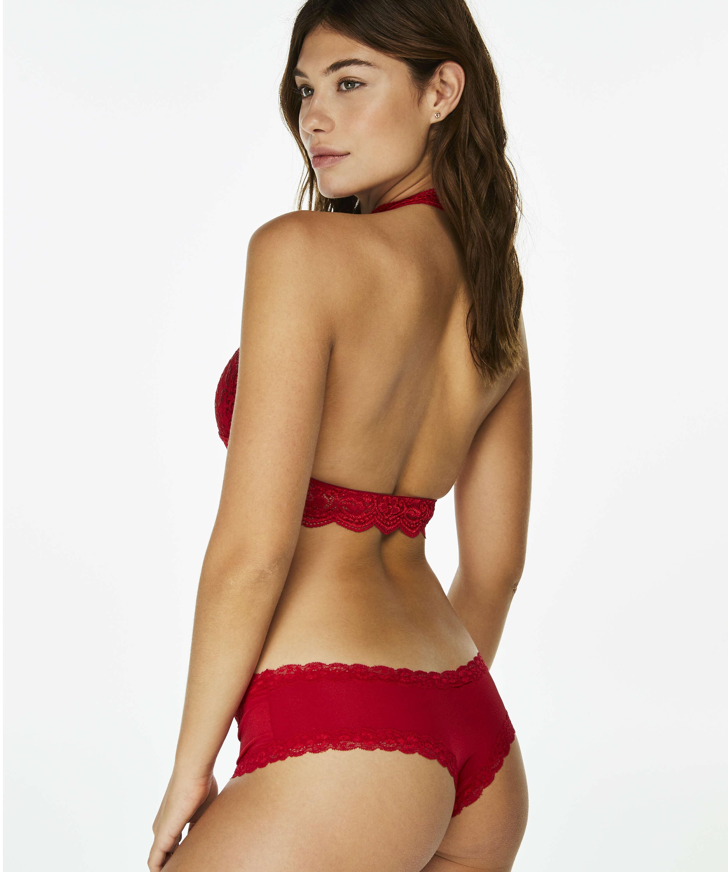 Halter Lace bralette, rød, main