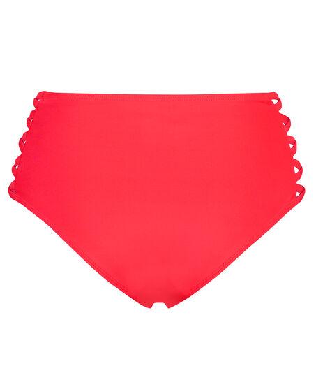 Sunset Dream høj cheeky bikinitrusse, rød