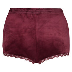 Velours Lace shorts, rød