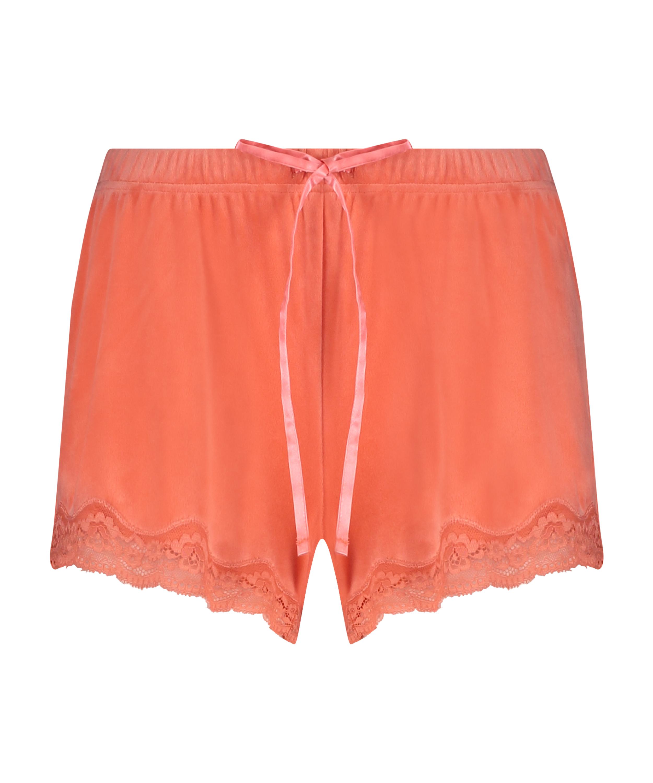 Shorts velour Lace, Orange, main